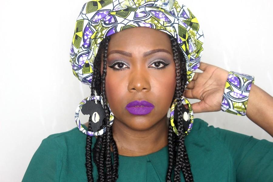 Maquillage peau noire simple et rapide pourdébutante